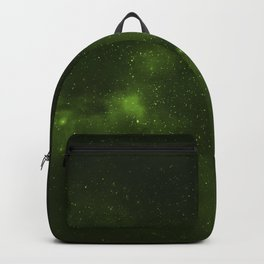 Fascinating view of the green cosmic sky Backpack