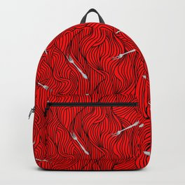 dinglehopper red wave (bound) Backpack