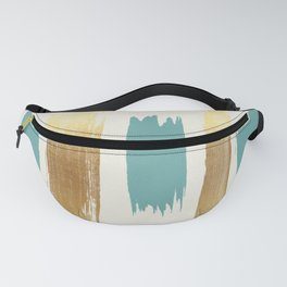 Brush Strokes (Teal/Gold) Fanny Pack