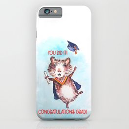 Guinea Pig Graduation iPhone Case