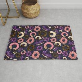 Colorful Galaxy Doughnut Cats Pattern Rug