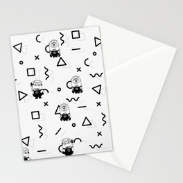 Memphis Minion Style Stationery Cards