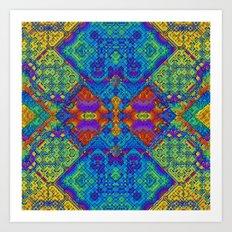 Festive Mosaic Art Print