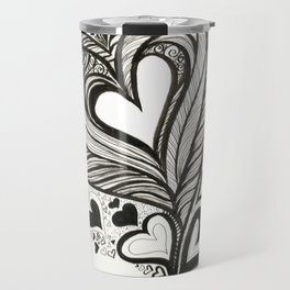 HeArt Therapy - Black and white heart Travel Mug