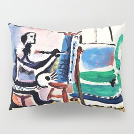 Pablo Picasso - The painter and his model - Digital Remastered Edition Pillow Sham