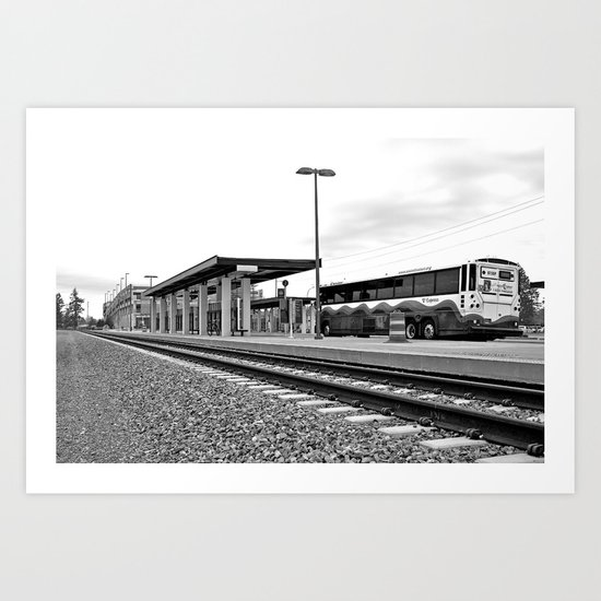 Sound Transit station Art Print