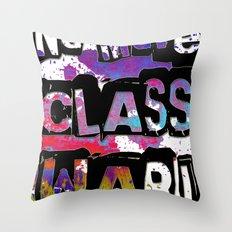NO MORE CLASS WAR Throw Pillow