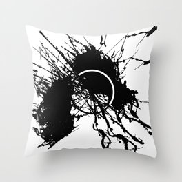 Form Out Of Chaos - Black and white conceptual abstract Throw Pillow