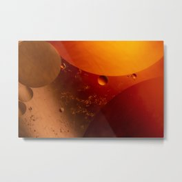 Reddish circles of pearly reddish colors. Metal Print