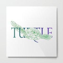 Turtle words Metal Print