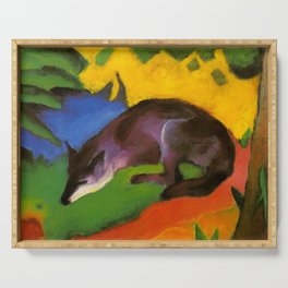 "Franz Marc ""Blue-Black Fox"" Serving Tray"
