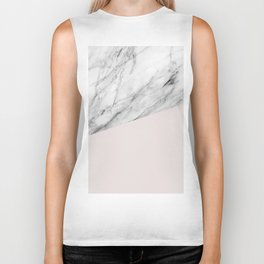Marble with Almost Mauve Color Biker Tank