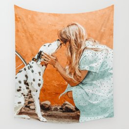 Pet Bound #pets #animals #animalslover #painting Wall Tapestry