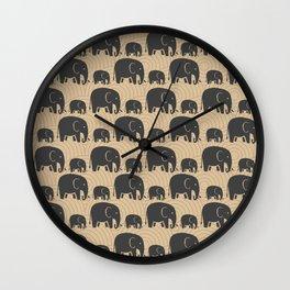 Elephant Earth Wall Clock