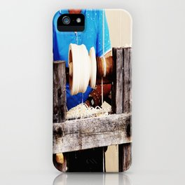 The artisan and the lathe iPhone Case