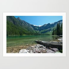 Avalanche lake Art Print