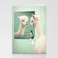 selfie Stationery Cards featuring SELFIE by Monika Strigel