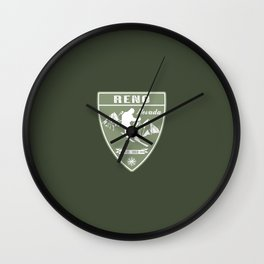 Ski Reno Nevada Wall Clock