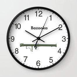 Bazooka Rocket Launcher Weapon Wall Clock
