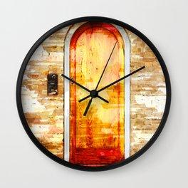 Door In Hyde Park London - For Doors & Travel Lovers Wall Clock