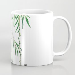 green willow leaf and swallow watercolor Coffee Mug
