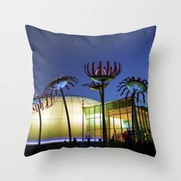 Seattle Glass Flowers - Chihuly Garden Throw Pillow