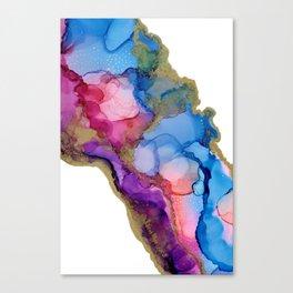 Golden River Flow Canvas Print