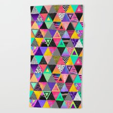 Quirky Triangles Beach Towel