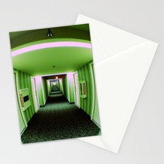 Green corridor Stationery Cards