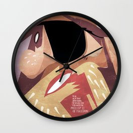Phillip II of Macedon Wall Clock