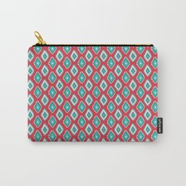 Abstract red teal green diamond pattern Carry-All Pouch