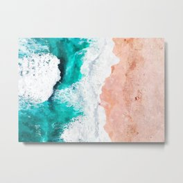 Beach Illustration Metal Print