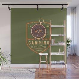 Compass Camping Wall Mural