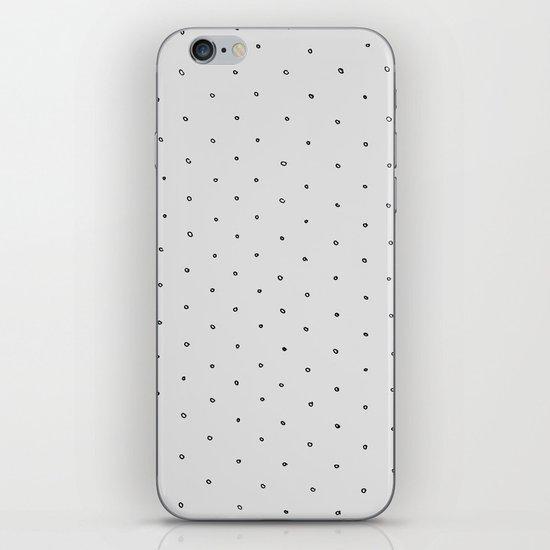 Gray Polka Dot iPhone & iPod Skin