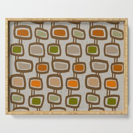 Dangling Rectangles Mid-Century Serving Tray