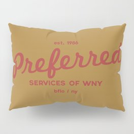 Preferred Services of WNY in Maroon Pillow Sham