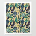 Whimsical tropical jungle pattern by budikwan