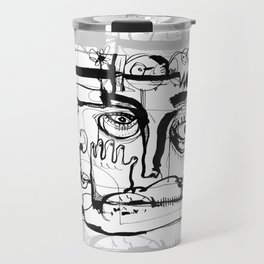 Birds on a Wire - b&w Travel Mug