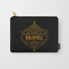 Gold Bibliophile on Black Carry-All Pouch