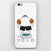yolo iPhone & iPod Skins featuring yolo by Louis Roskosch