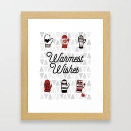 Warmest Wishes Framed Art Print