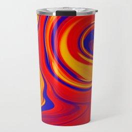 Abstract Bold Colorful Marble Travel Mug