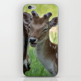 Winking deer iPhone Skin