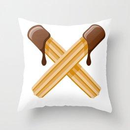 Churros Throw Pillow