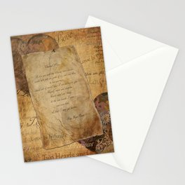 Two Hearts are One - Vintage Romantic Steampunk Art Stationery Cards