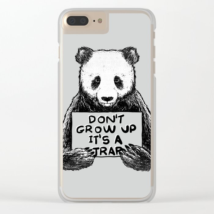 Don't Grow Up It's a Trap Clear iPhone Case