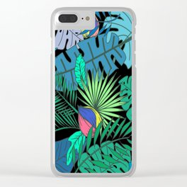 TROPICAL GARDEN B (abstract) Clear iPhone Case