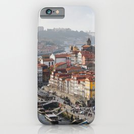 Porto's Cityscape. The Ribeira area alongside the Douro River. iPhone Case