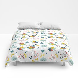 winter birds pattern Comforters