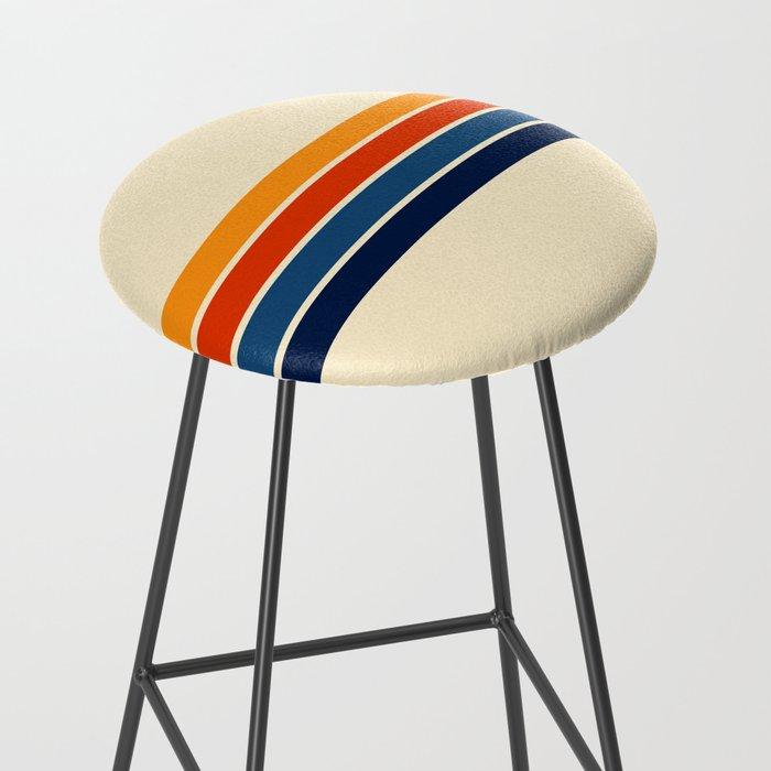 Classic Retro Stripes Bar Stool